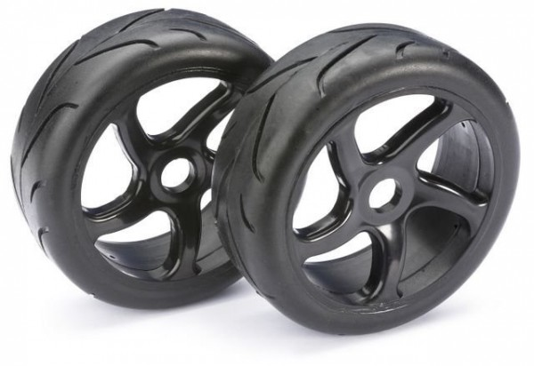 Absima Wheel Set Buggy Street black 1:8 onroad