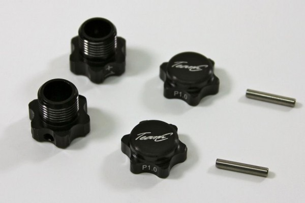 TeamC Alu Hex Mount +1mm (2) 1:8 Comp.