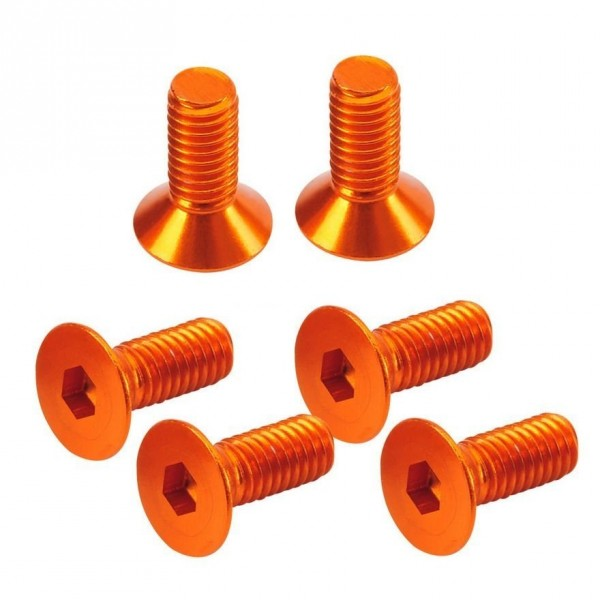 TeamC Flat Head Hex Screw orange 3x8mm (6)