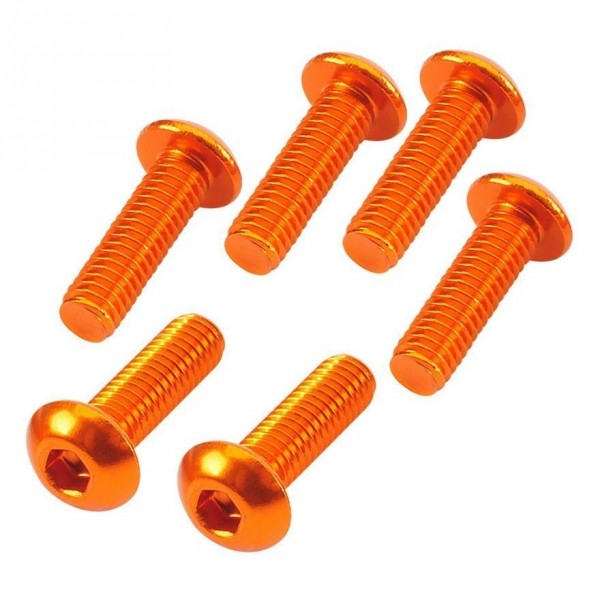 TeamC Button Head Hex Screw orange 3x10mm (6)