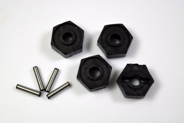 Absima Absima 1230434 - Wheel Hex. 12mm W/Pins (2x10)