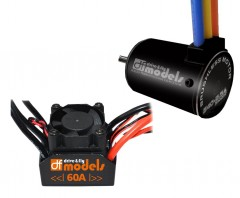 12T COMBO SET DF MODELS BRUSHLESS 3650 3100KV BL60A WATERPROOF