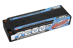 TEAM CORALLY X-CELERATED 100C LiPo Stick Hardcase-7200mAh-7.4V-G4 (51,80Wh)
